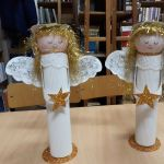 Aniołki - zajęcia plastyczne.